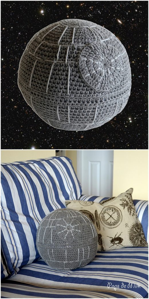 That's no moon - Pops de Milk #starwars #crochet death star
