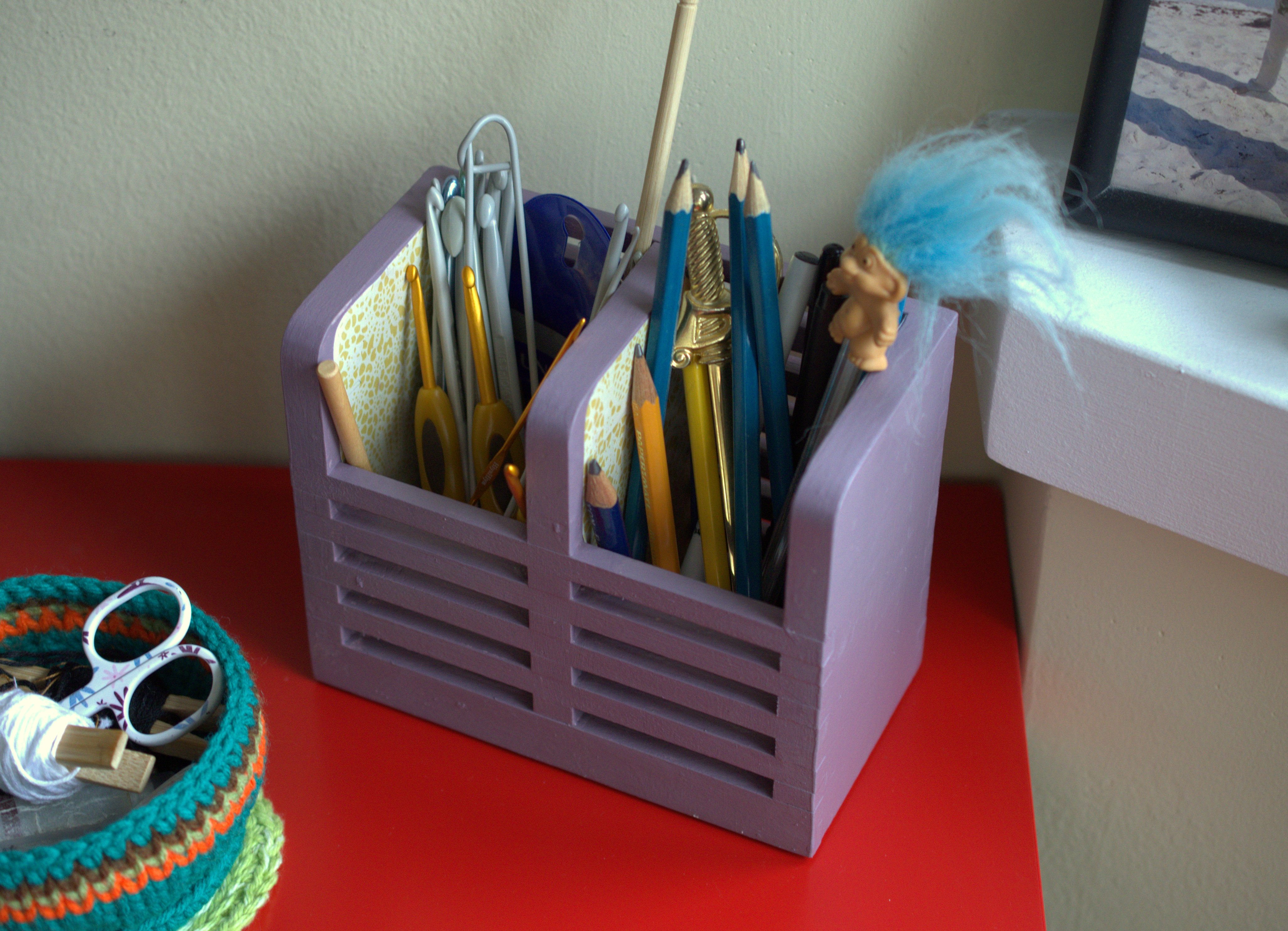 Superieur DIY Crochet Hook Storage From Ikea Cutlery Container