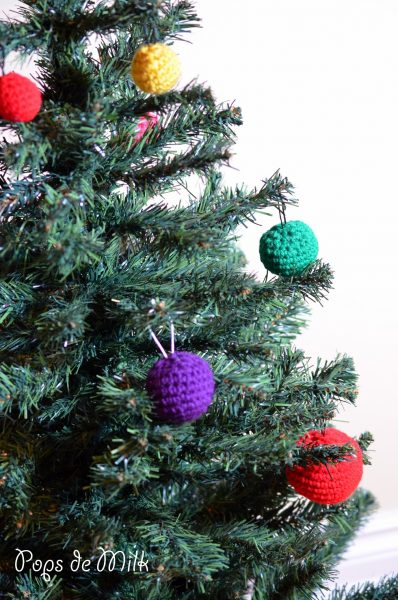 Crochet Christmas Baubles and Christmas Tree WIP - Pops de Milk4