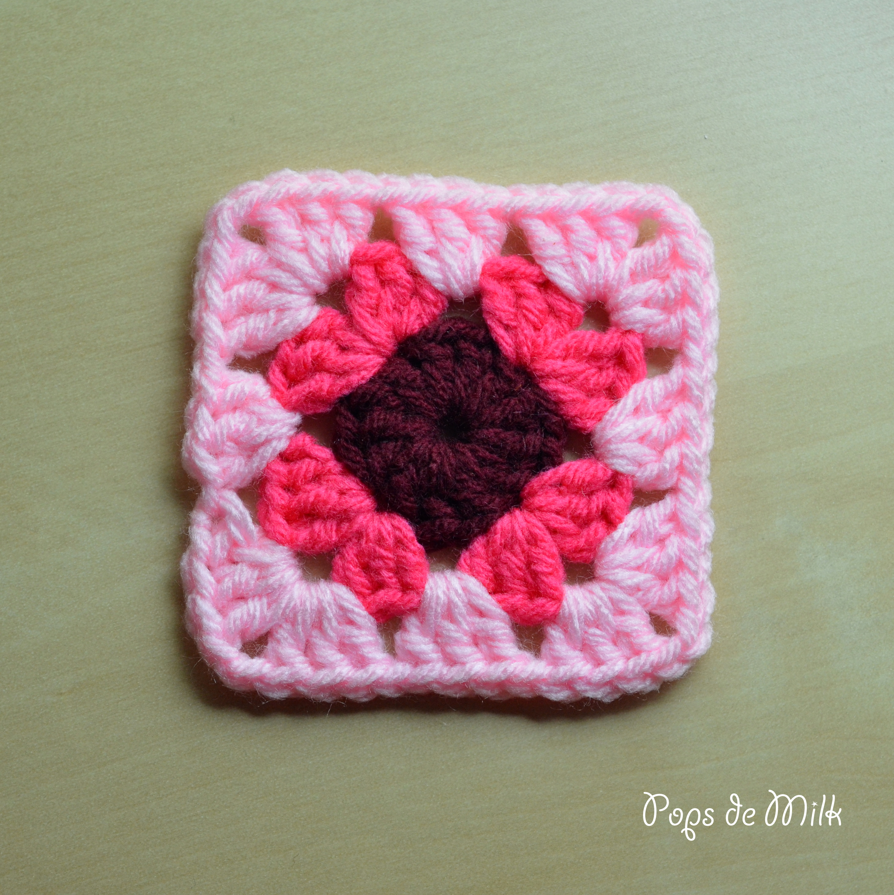 How to crochet a basic granny square pops de milk basic granny square bankloansurffo Image collections