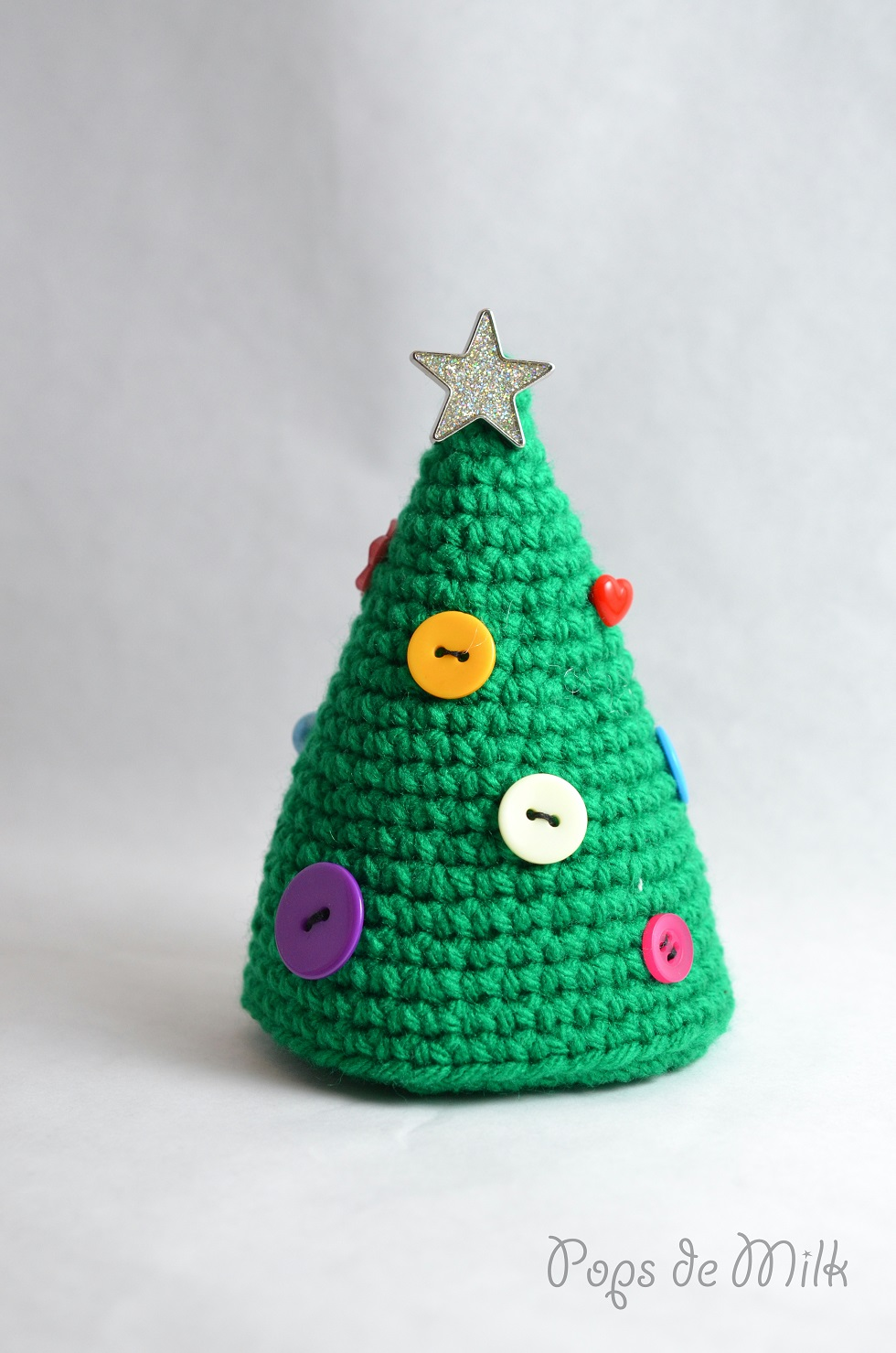 Christmas Tree With Buttons Pattern Pops De Milk