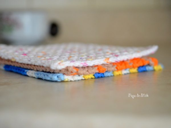 Dishcloth 9- Pops de Milk