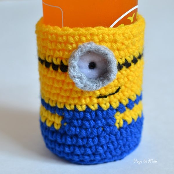 Minion Bottle Cozy 1- Pops de Milk