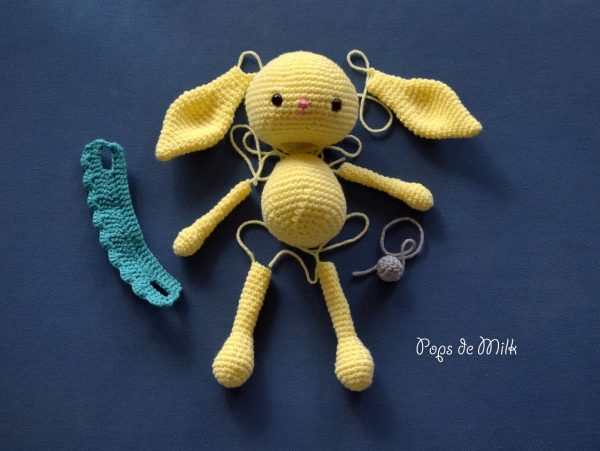 Crochet Spring Bunny Parts - Pops de Milk