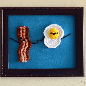 bacon and egg wall art