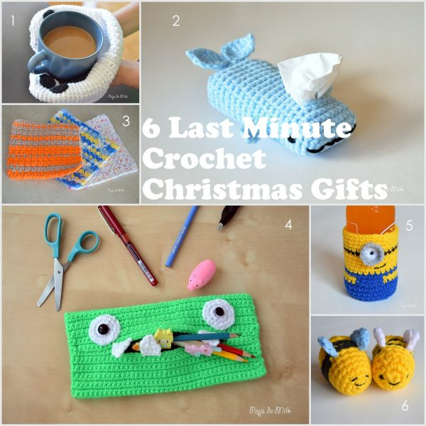 6 Last Minute Crochet Christmas Gifts - Pops de Milk