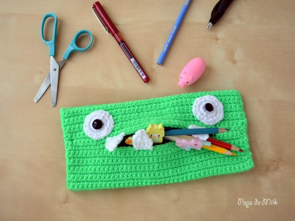 9Crochet Monster Pencil Case - Pops de Milk