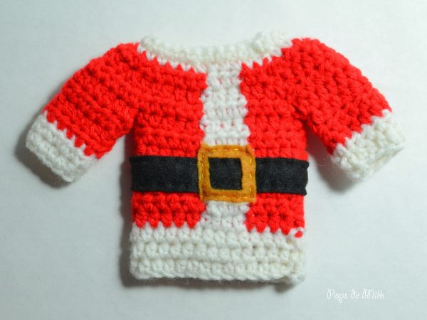 Santa Cutlery Holder crochet - Pops de Milk
