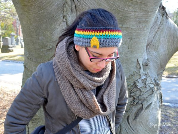 crochet wesley crusher headband