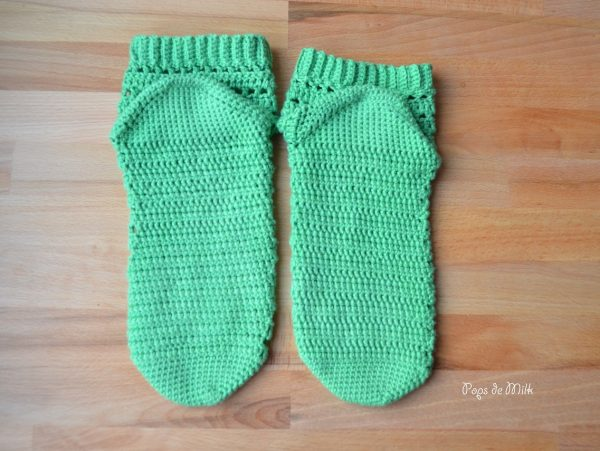 August Crochet Socks - Pops de Milk