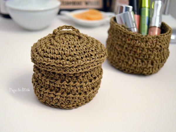 Twine Basket Crochet - Pops de Milk