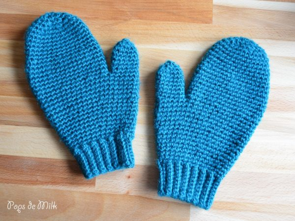 my first crochet mittens pops de milk