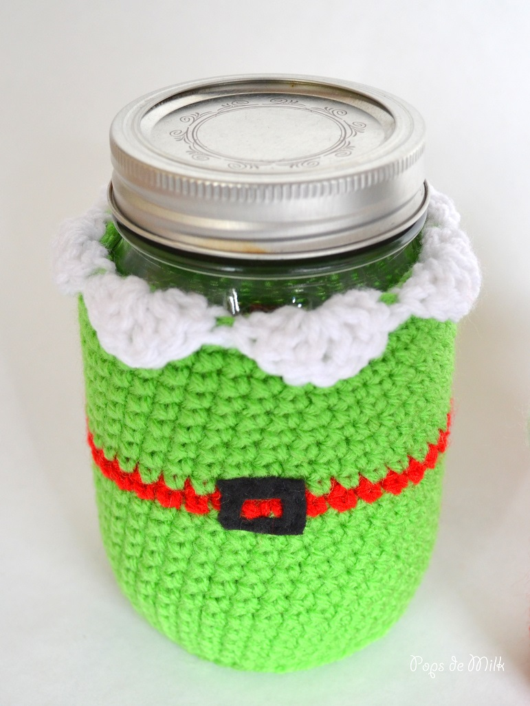 chrismas elf mason jar cozy pops de milk