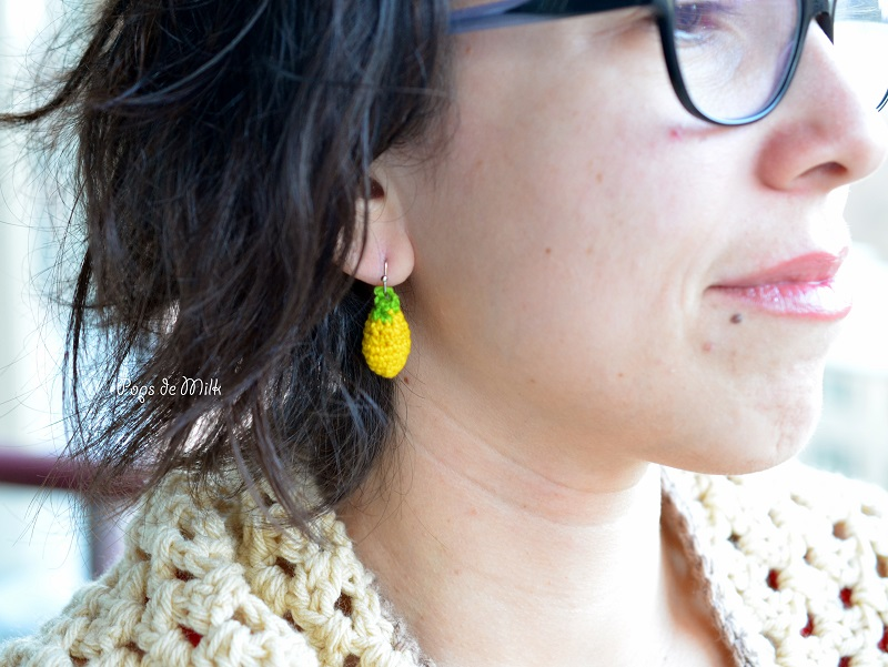 Crochet Lemon Earrings - Pops de Milk