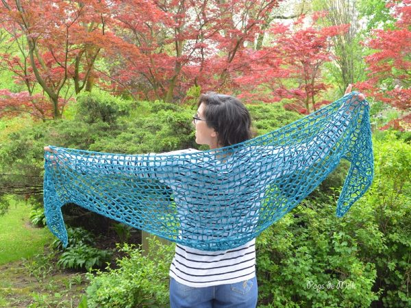 crochet shawl mountain meadow wool