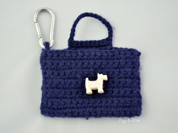 crochet doggy treat pouch